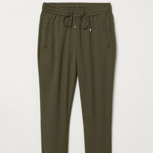H&M Olive Straw String Pants